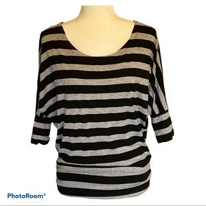 Women's Zenana Outfitters striped 3/4 sleeve top
